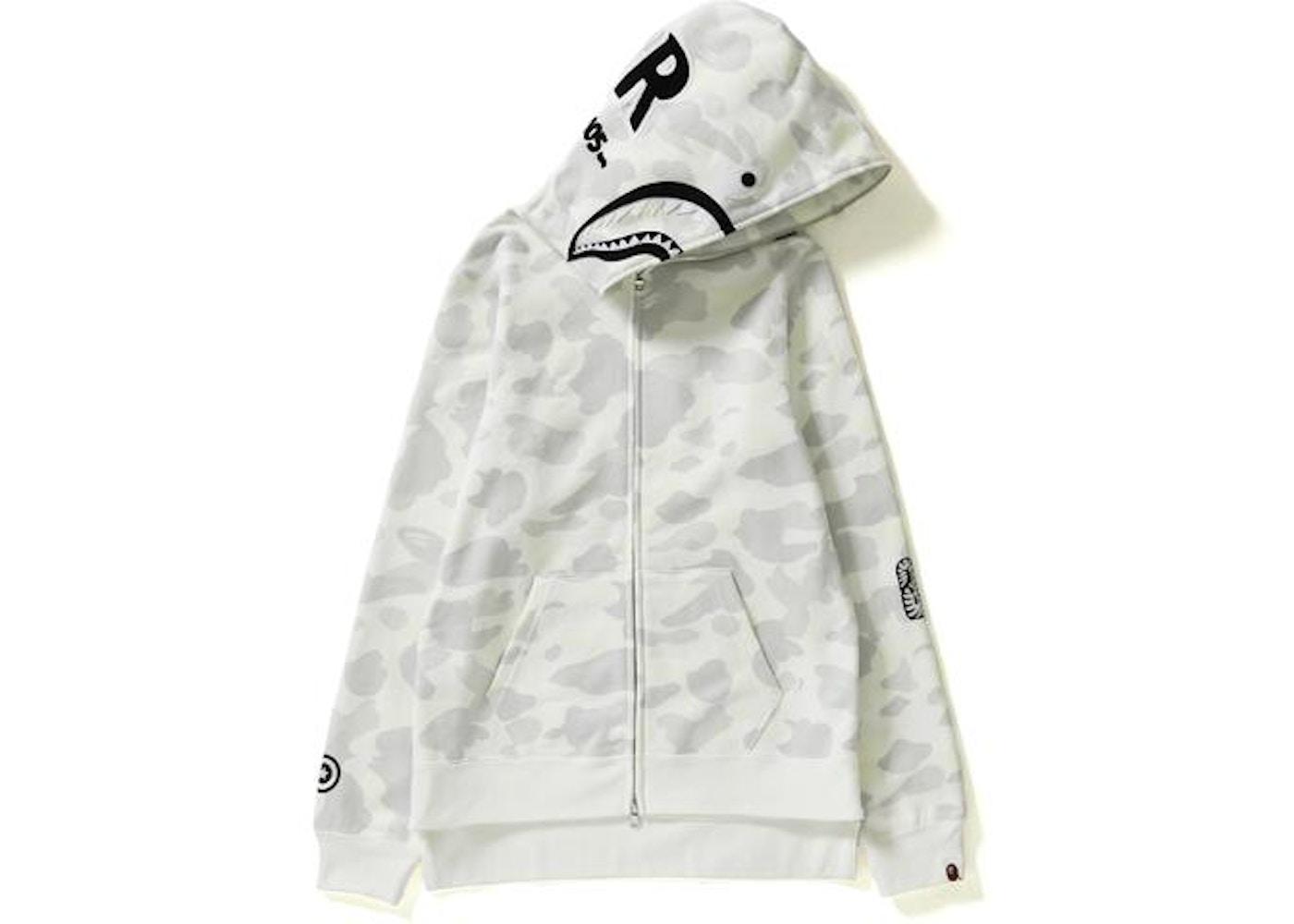 a893a12d5f07 BAPE City Camo Shark Long Full Zip Hoodie (Ladies) White -