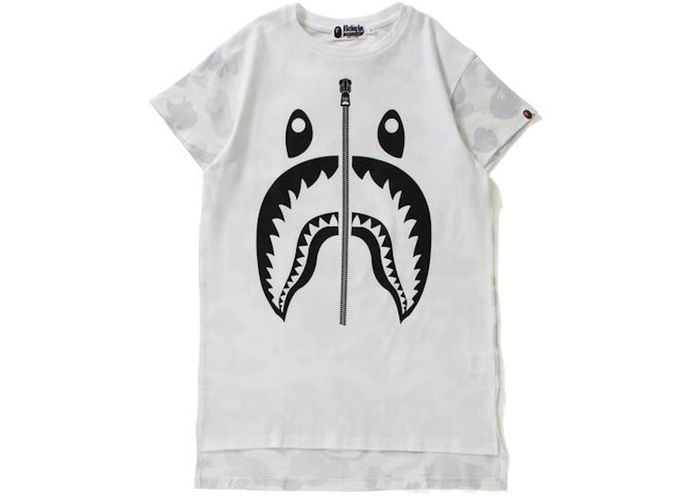 c4894ba9 BAPE City Camo Shark Long Length Tee Tee (Ladies) White -