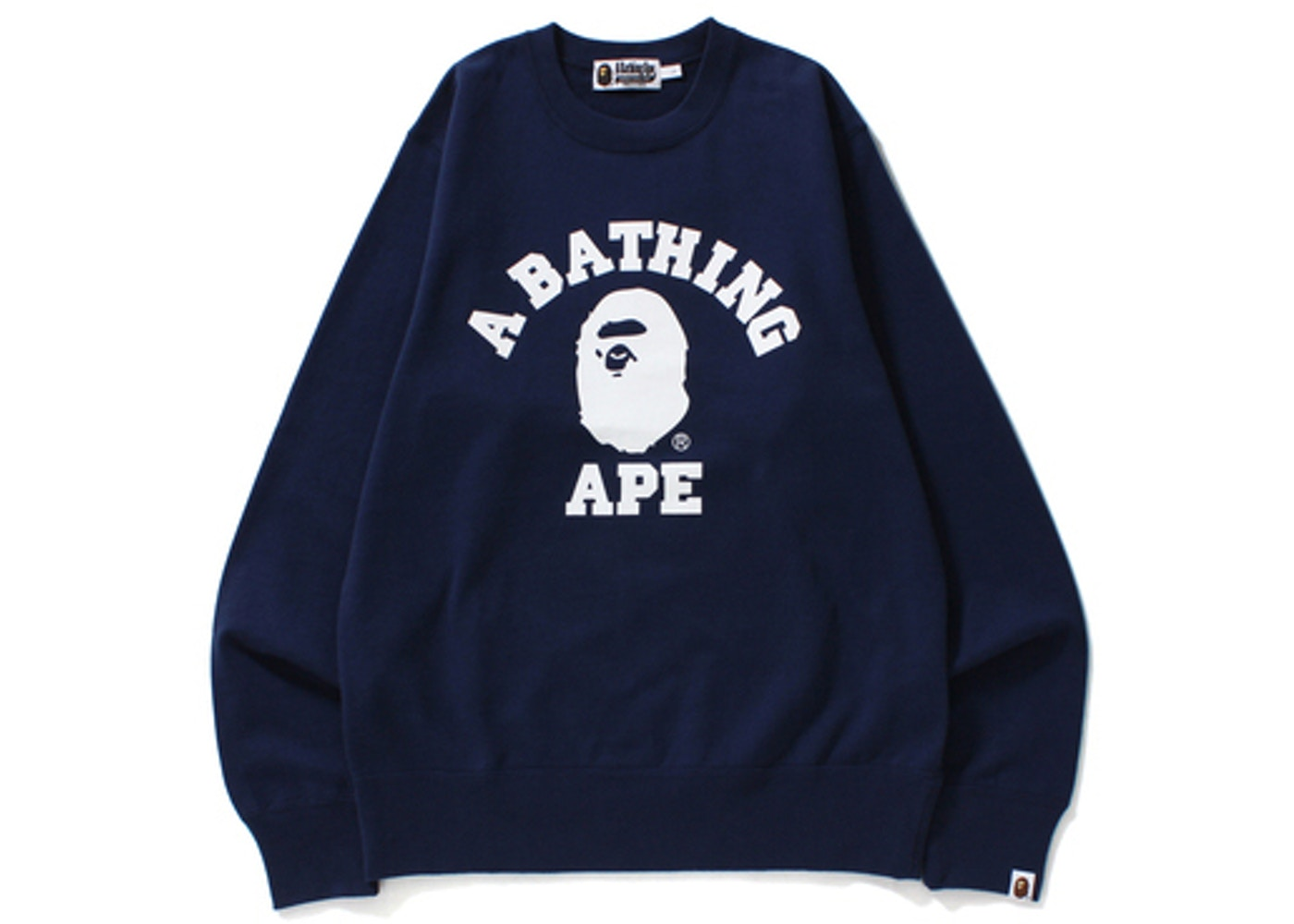 BAPE College Crewneck Navy -