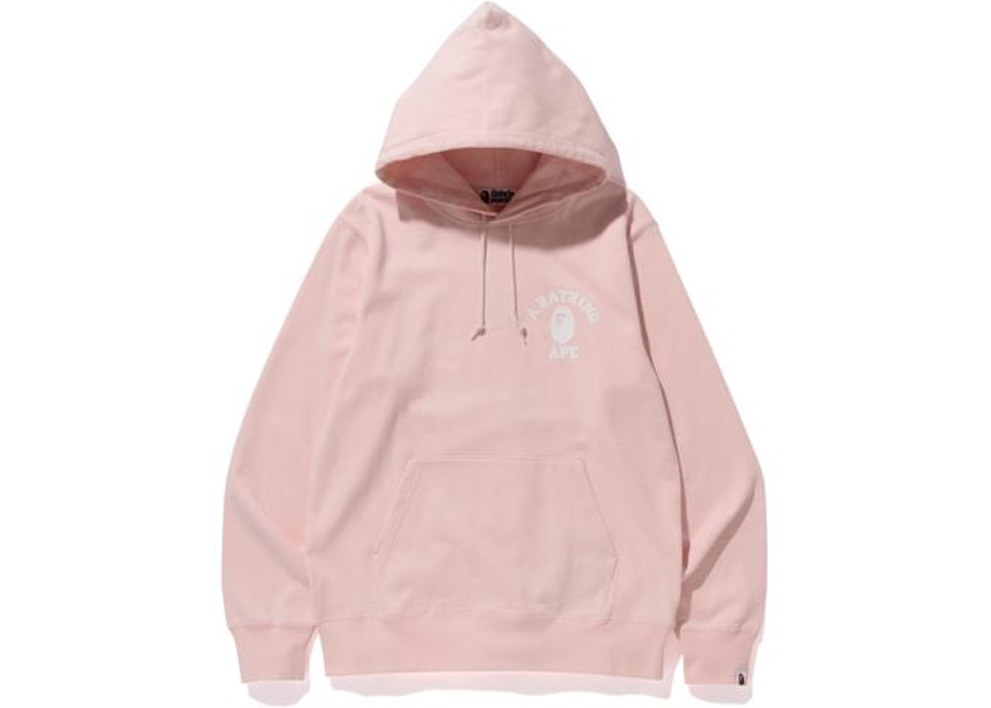 638d58636019 BAPE College Pullover Hoodie Pink -
