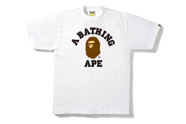 BAPE College Tee White