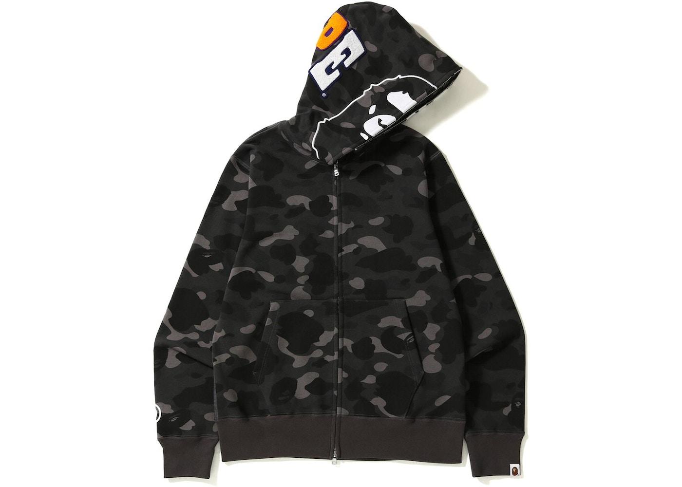 bape color camo 2nd ape hoodie black ss18