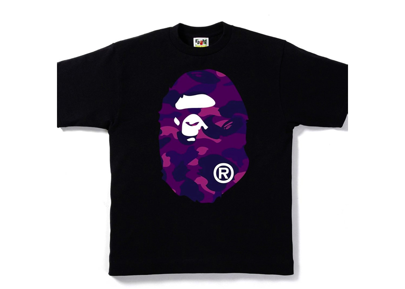 bfc977b2 Sell. or Ask. Size L. View All Bids. BAPE Color Camo Big Ape Head Tee Black /Purple