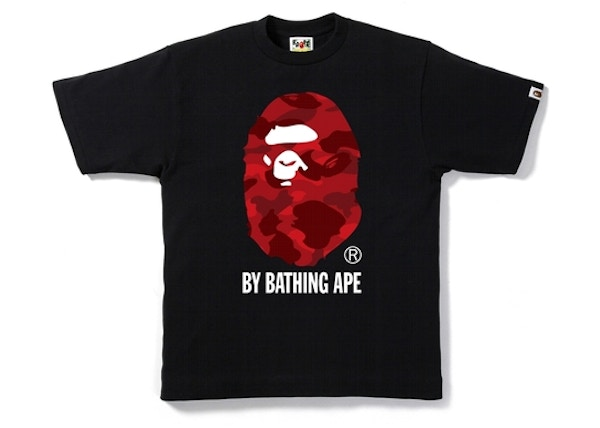 09fce4fd BAPE Color Camo By Bathing Tee Black/Red
