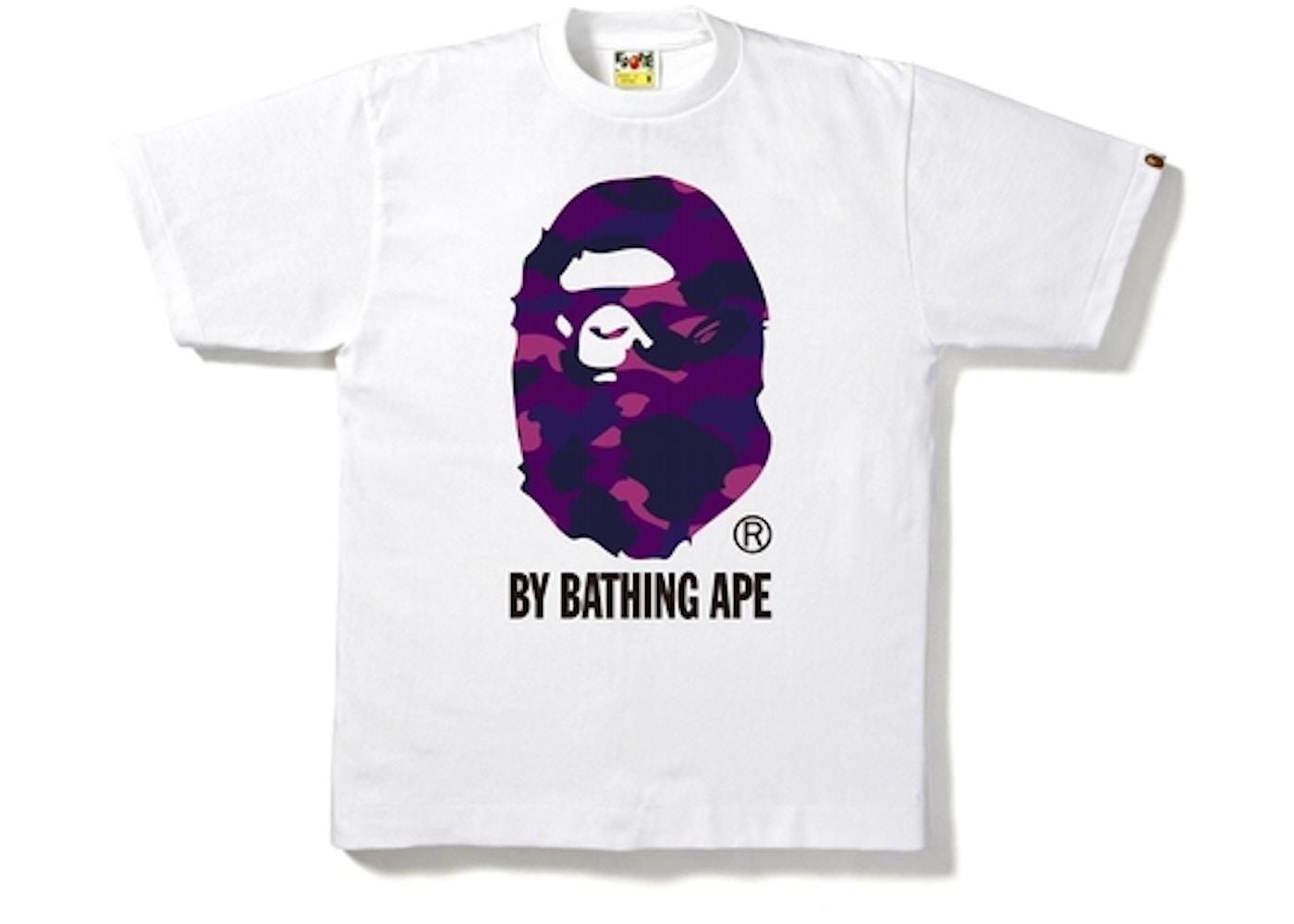 52358995 BAPE Color Camo By Bathing Tee White/Purple -