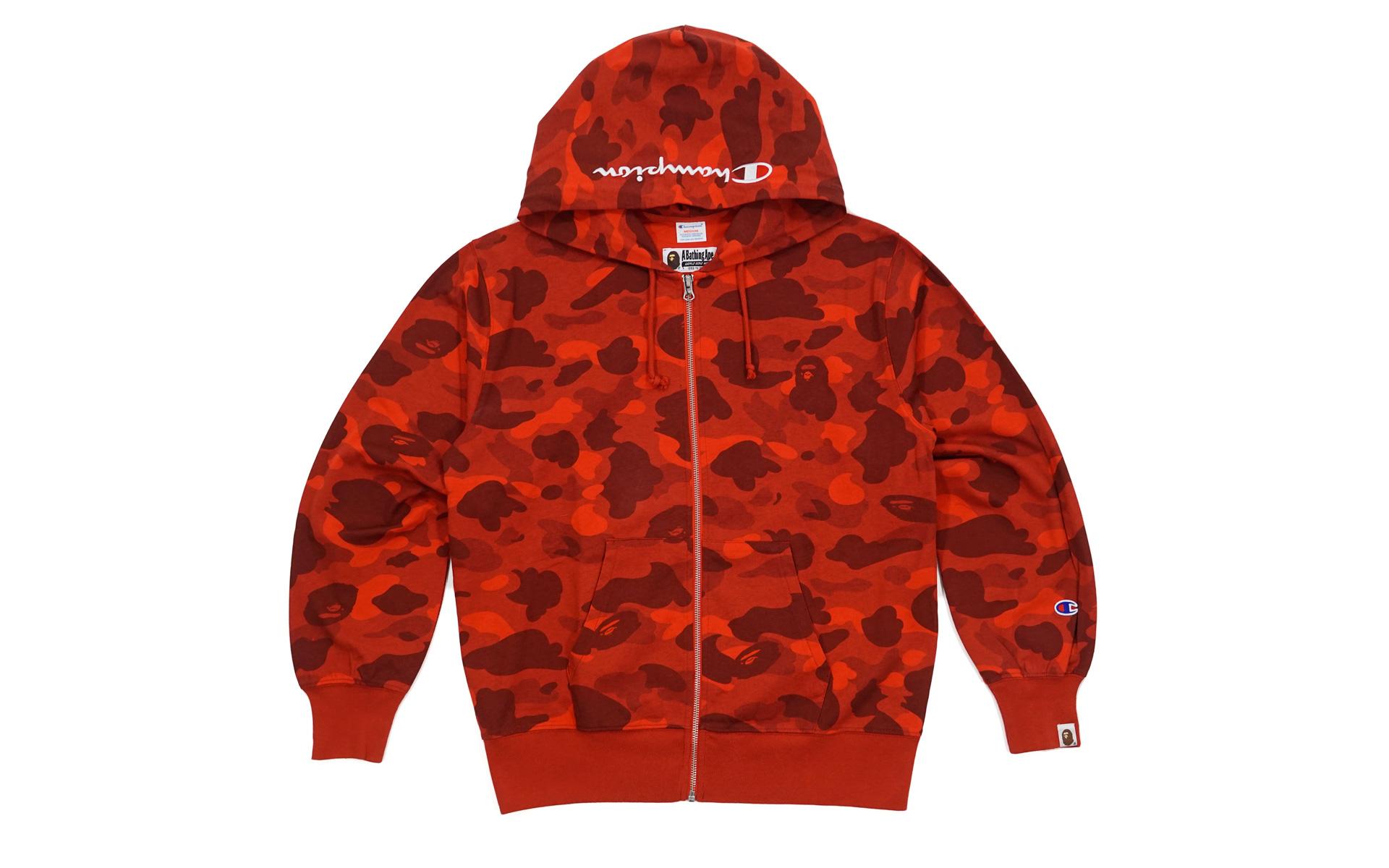 camo champion hoodie