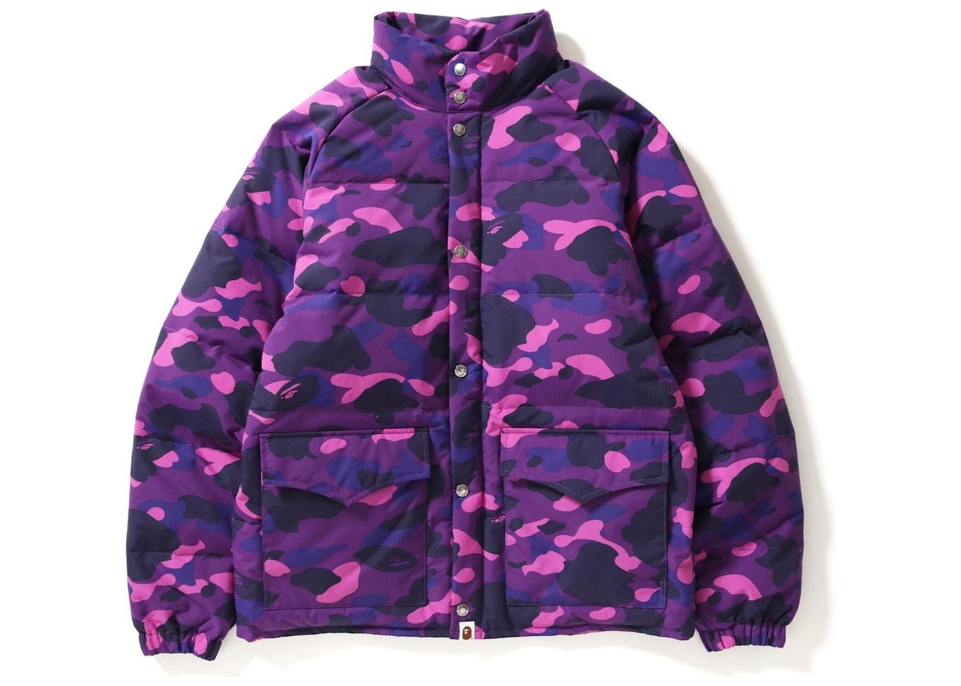 fbf1ec62e BAPE Color Camo Classic Down Jacket Purple -