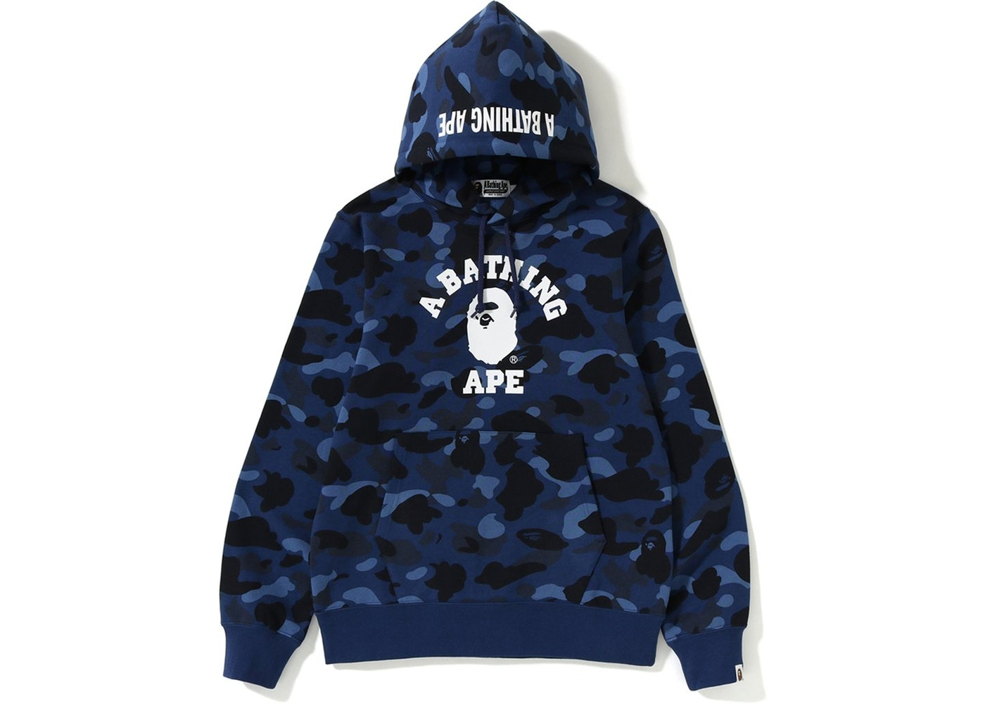 BAPE Color Camo College Pullover Hoodie Navy - SS19 0816a5d58ff