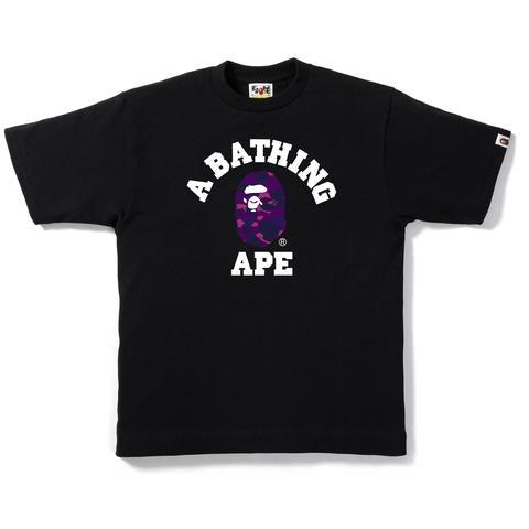 BAPE Color Camo College Tee Black/Purple