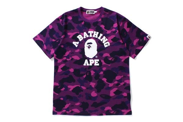 BAPE Color Camo College Tee Purple