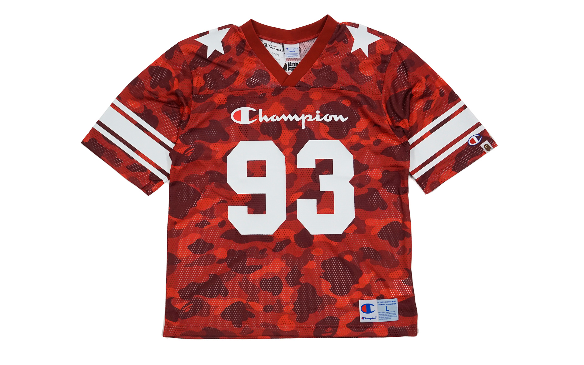 Color Camo Football Jersey Red