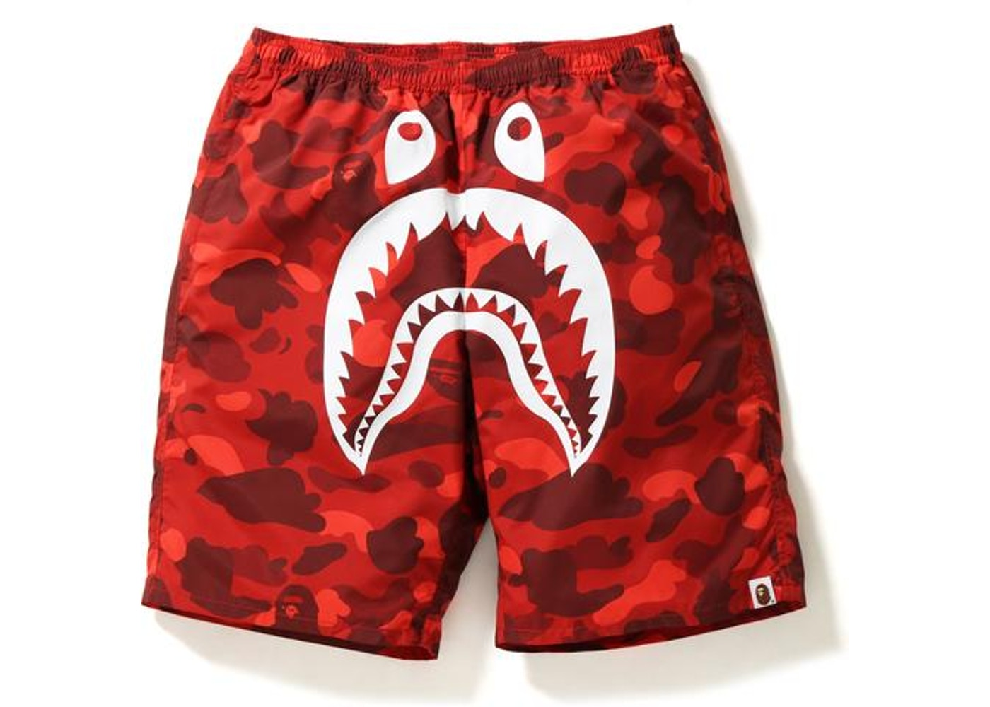 44c14ea4a55 BAPE Color Camo Shark Beach Shorts Red -