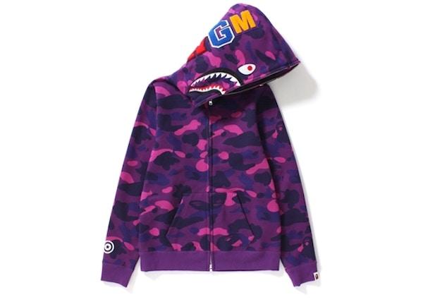 c4d909dd BAPE Color Camo Shark Full Zip Hoodie (Ladies) Purple