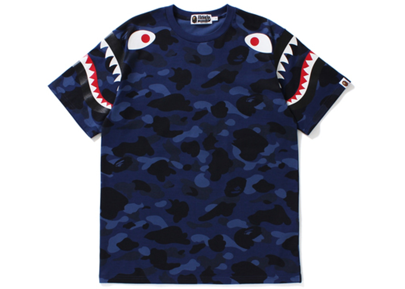 b0eda6255ae8 Sell. or Ask. Size M. View All Bids. BAPE Color Camo Shark Shoulder Tee Navy
