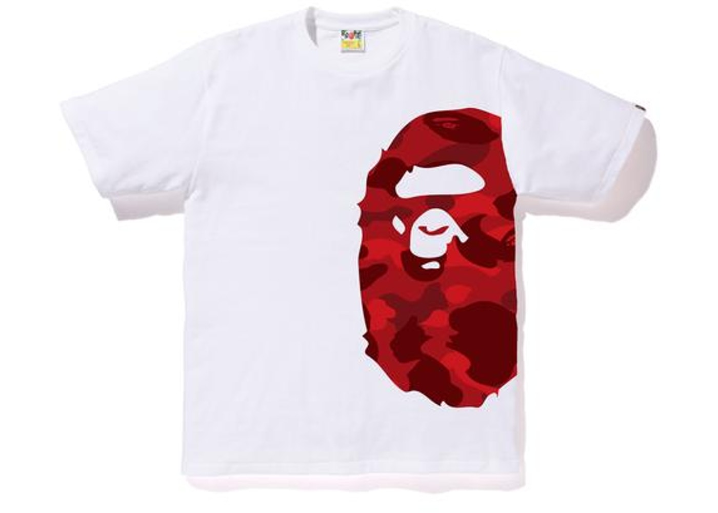 acdb321d BAPE Color Camo Side Big Ape Head Tee White/Red. Color Camo Side Big Ape  Head