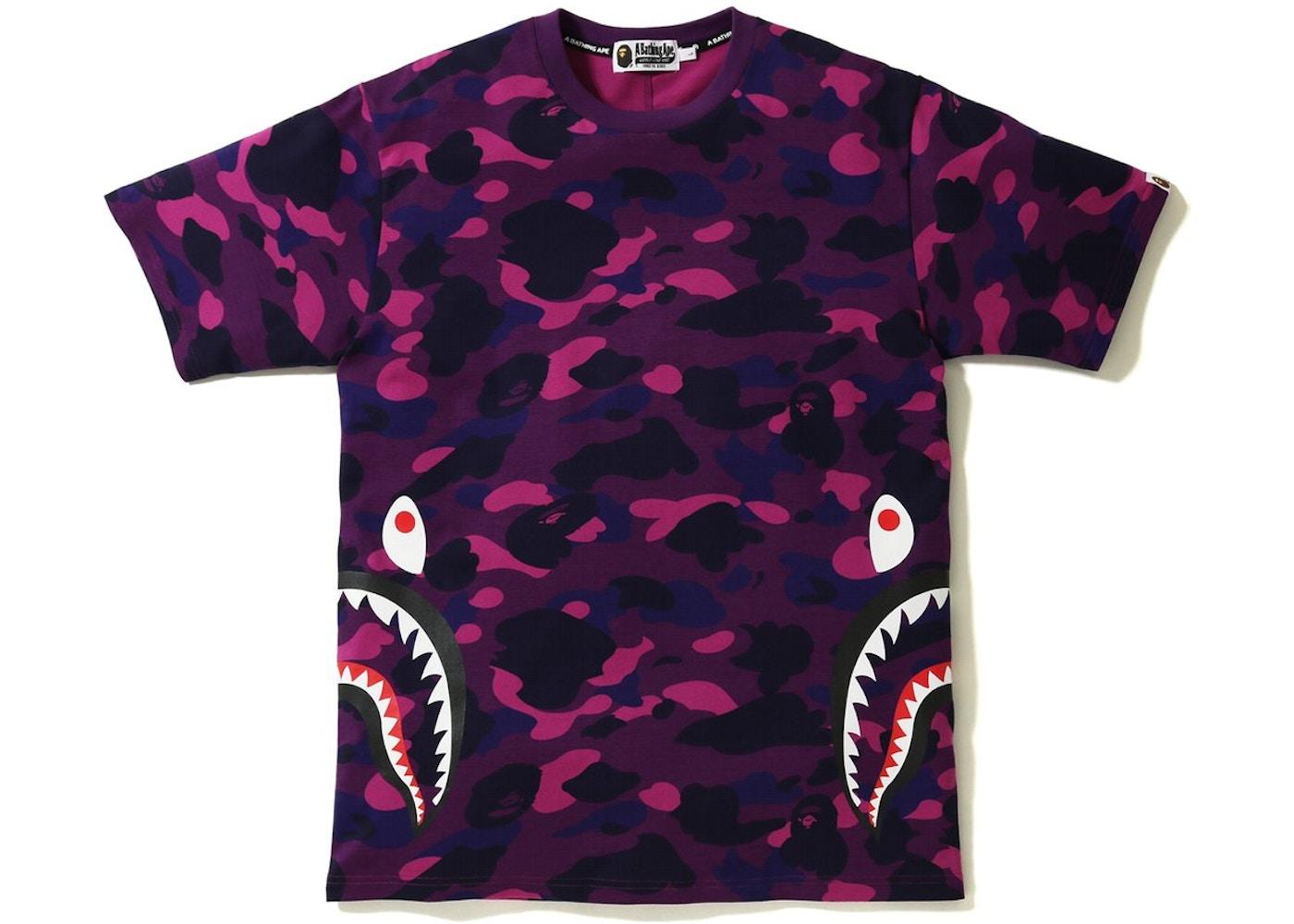 6a9c2c77a BAPE Color Camo Side Shark Tee Purple. Color Camo Side Shark