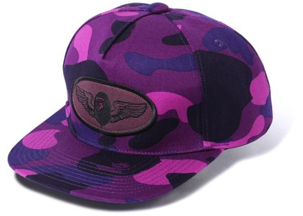 8cd18fa3923 BAPE Color Camo Snap Back Cap M Purple