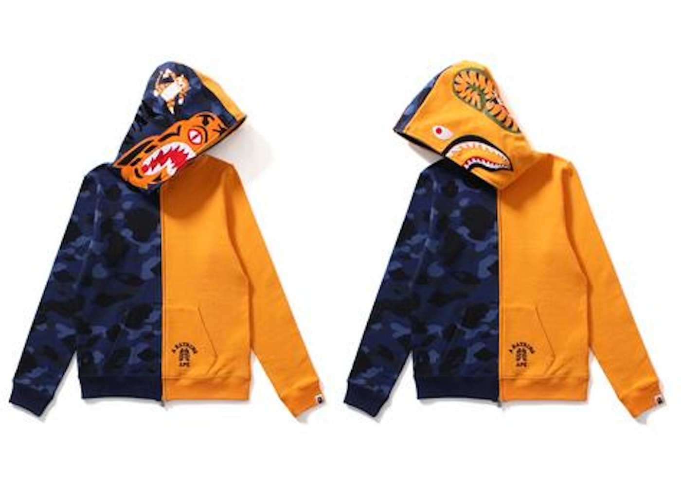 de4f7c26 Sell. or Ask. Size --. View All Bids. BAPE Color Camo Tiger Shark Half Full  Zip Hoodie (Ladies) Blue/Orange