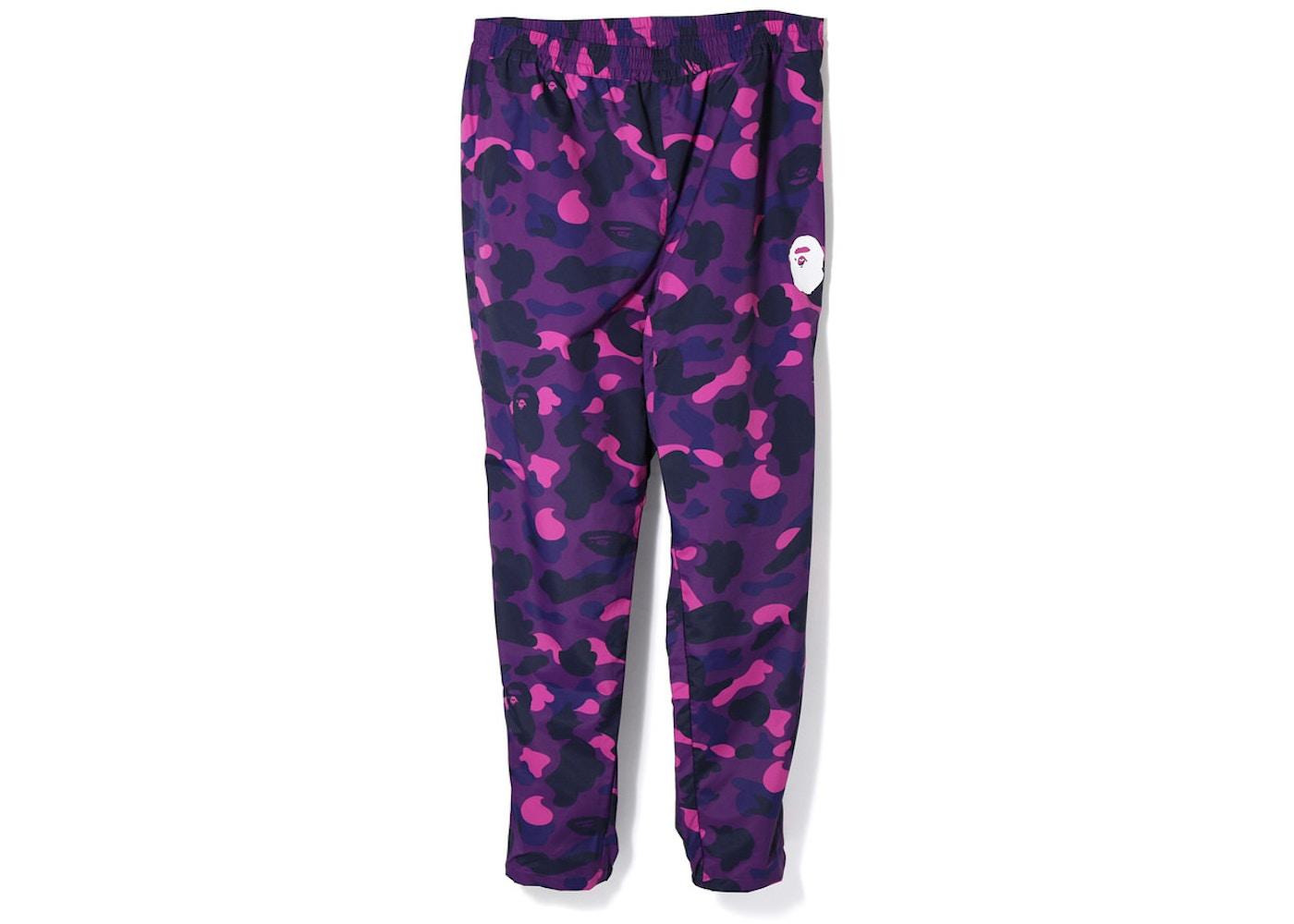 eb81f9a46f2a BAPE Color Camo Track Pants Purple - SS18