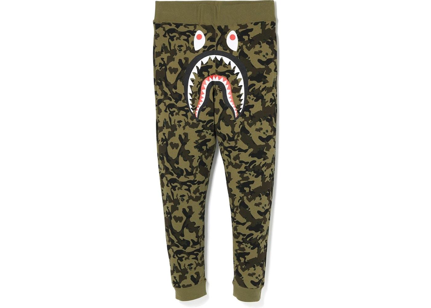 Bape Desert Camo Shark Slim Sweat Pants Green Fw18