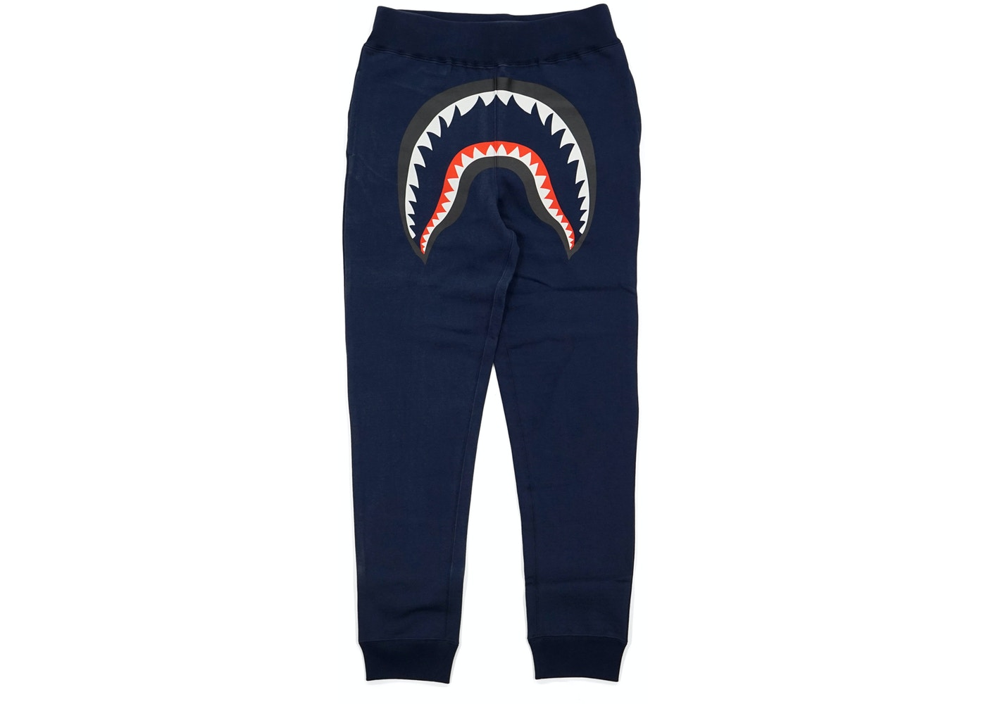 1555b530 BAPE Faceless Shark Sweatpants Navy. Faceless Shark