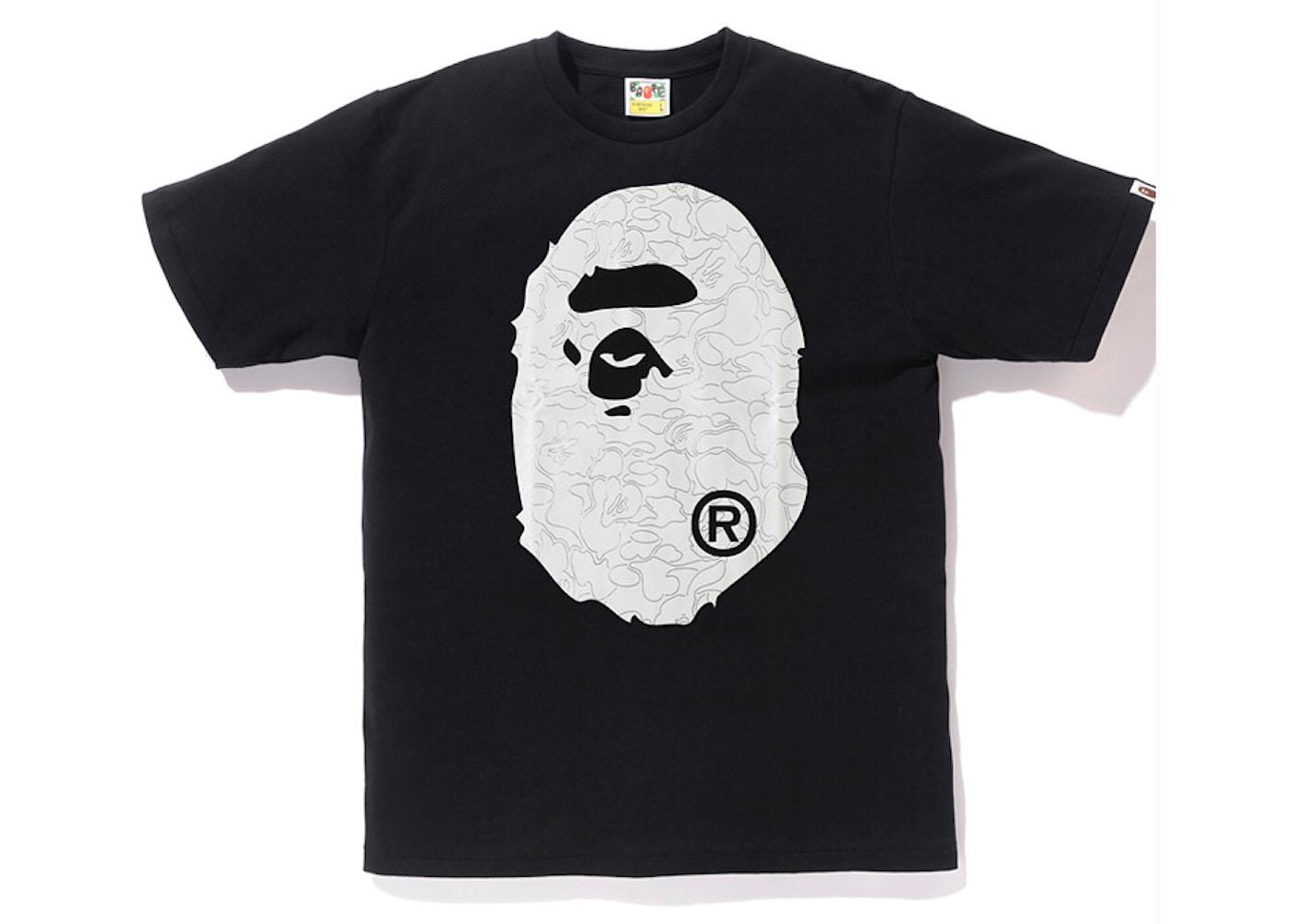 ff01423d Sell. or Ask. Size: XXL. View All Bids. BAPE Foil Neon Camo Big Ape Head Tee  Black/Gold