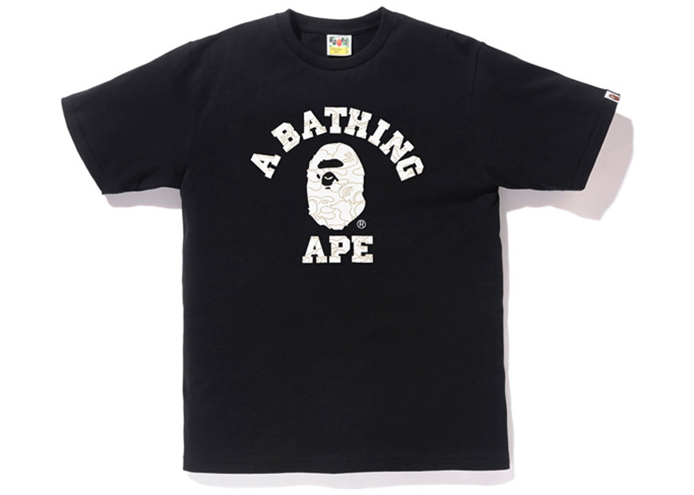 c65325b24 Sell. or Ask. Size --. View All Bids. BAPE Foil Neon Camo College Tee Black/ Gold