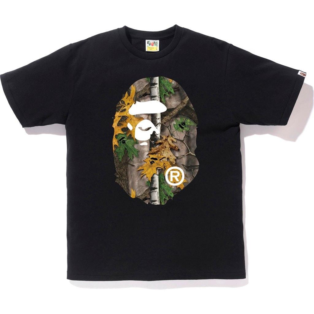 BAPE Forest Camo Big Ape Head Tee Black/Beige