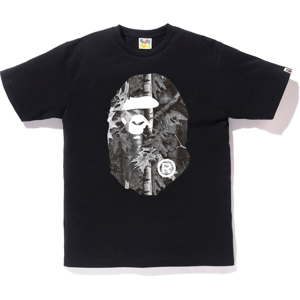 BAPE Forest Camo Big Ape Head Tee Black/Black