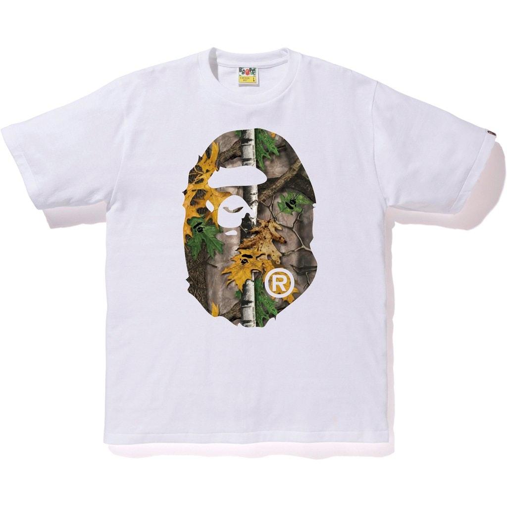 BAPE Forest Camo Big Ape Head Tee White/Beige