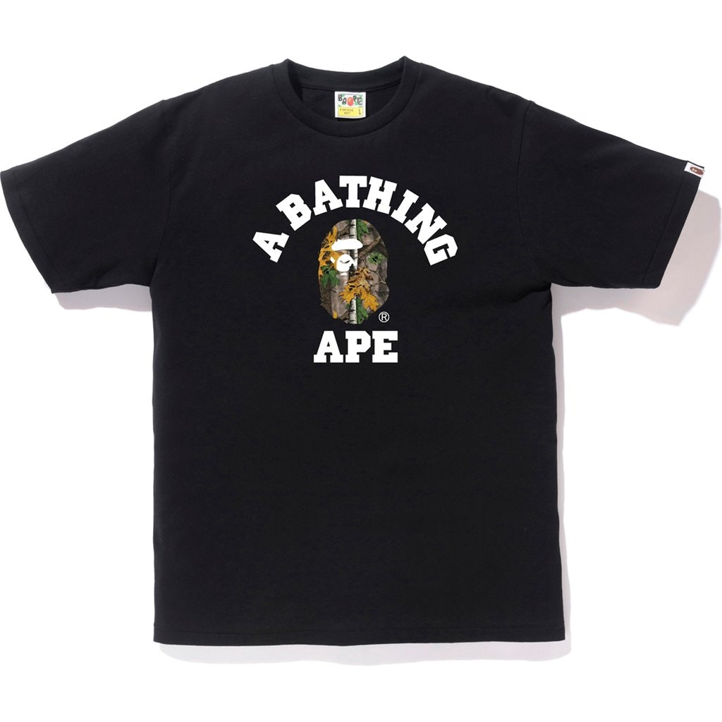 BAPE Forest Camo College Tee Black/Beige