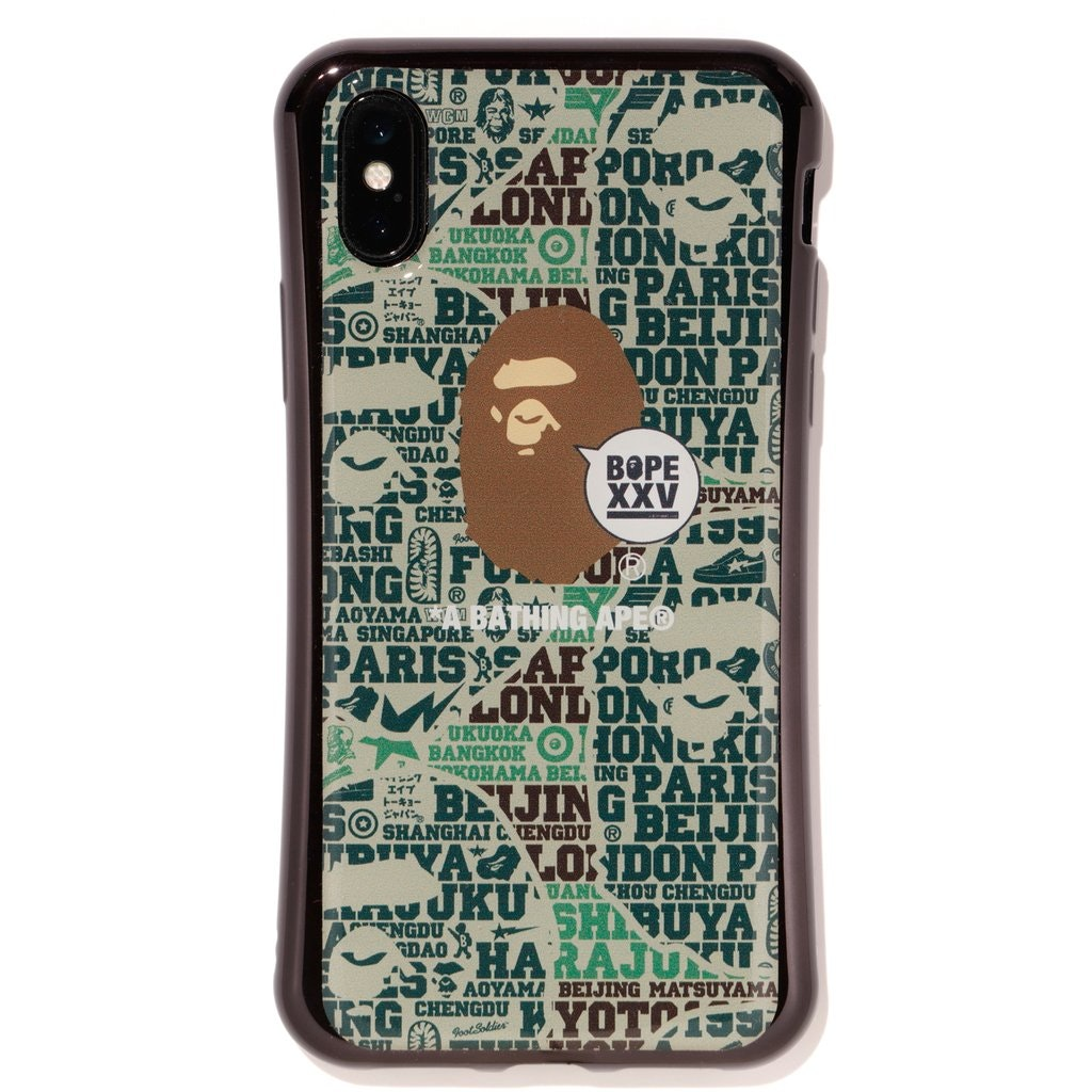 BAPE Gizmobies XXV iPhone X Case Green