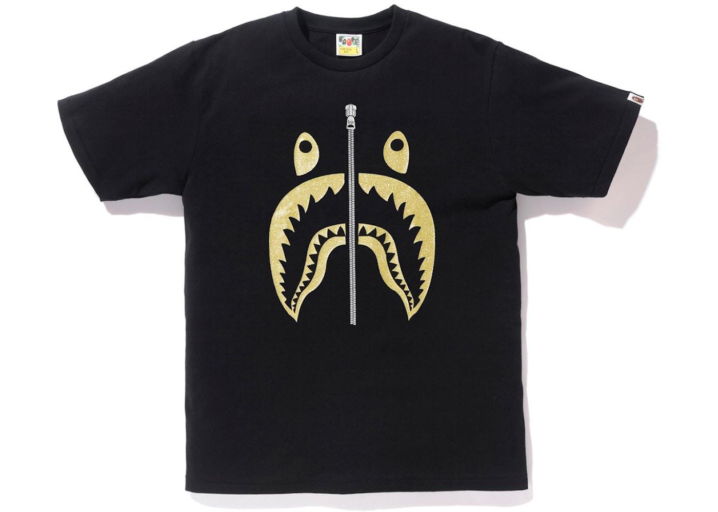 038a7da12 Sell. or Ask. Size --. View All Bids. BAPE Glitter Shark Tee Black/Gold
