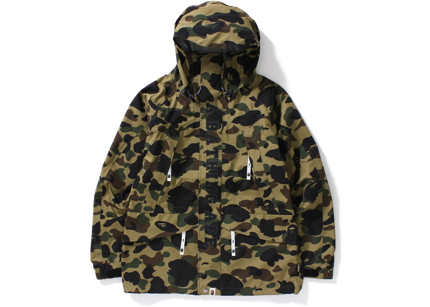 ce279491224c3 BAPE Gore-Tex 1st Camo Snowboard Jacket Jacket Green -