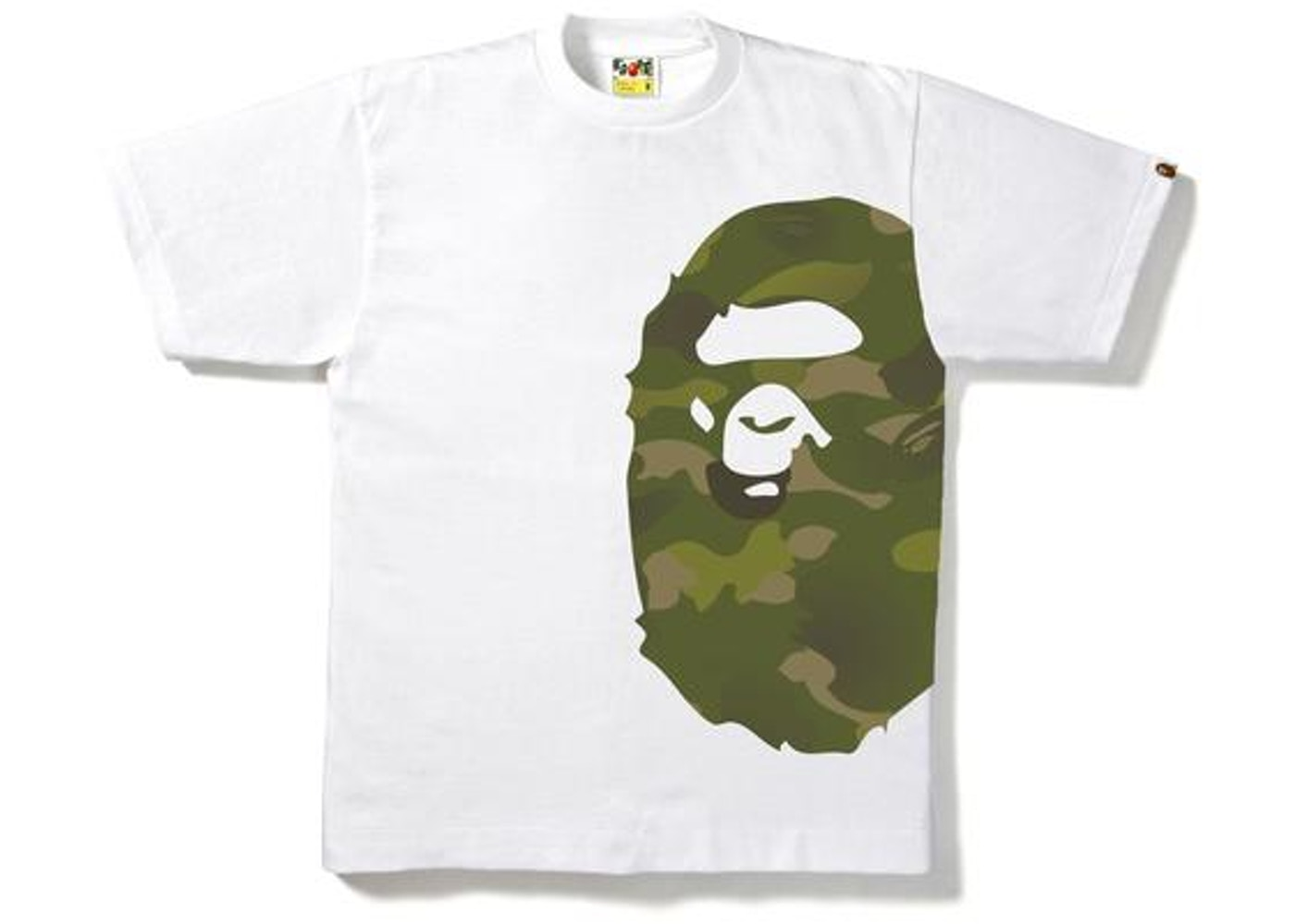 89159c0b BAPE Gradation Camo Side Big Ape Head Tee Tee White/Green -