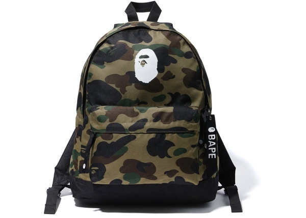 f2f53cc89ba BAPE Happy New Year 1st Camo Backpack Black Green