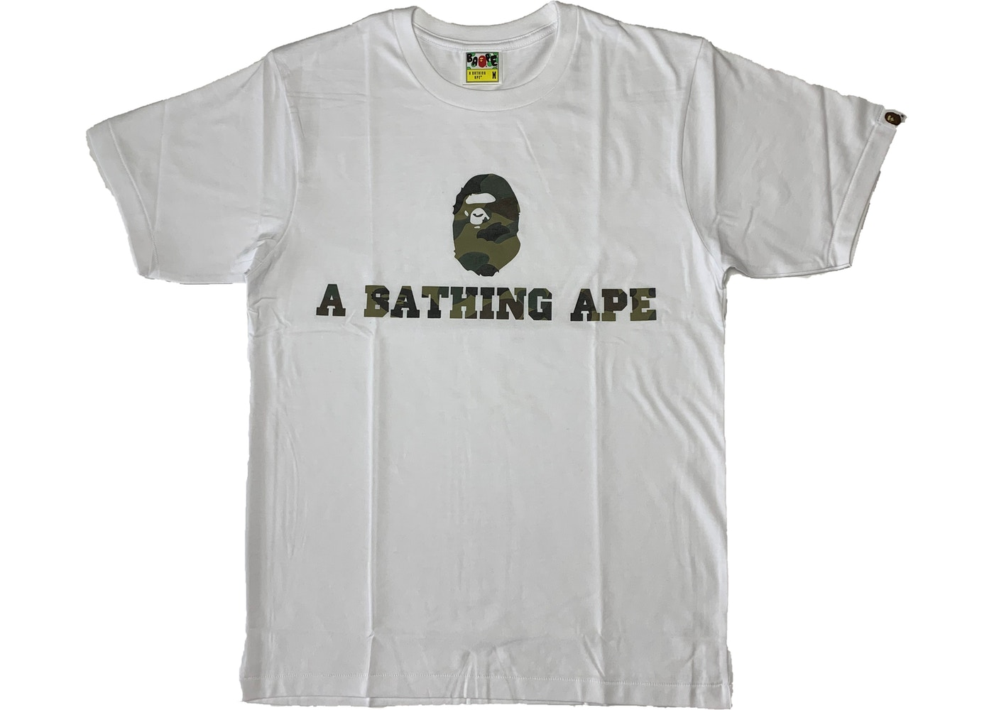 4a1cec21 BAPE Happy New Year 1st Camo Tee White/Green - SS19
