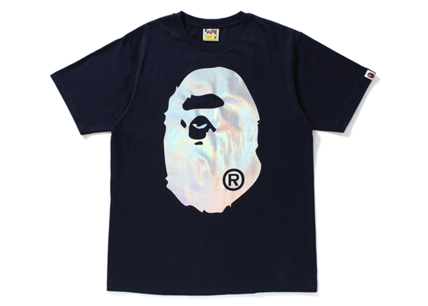 cff82f30 BAPE Hologram Big Ape Head Tee Navy -