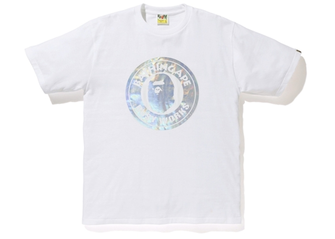 f4761522 Sell. or Ask. Size --. View All Bids. BAPE Hologram Busy Works Tee White