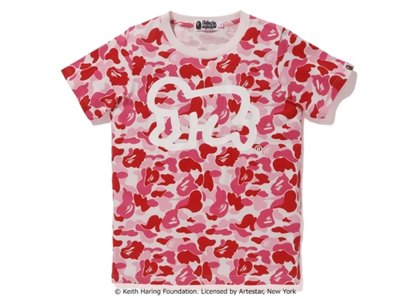 BAPE Keith Haring ABC Tee (Ladies) Pink Camo - 7887aabbc