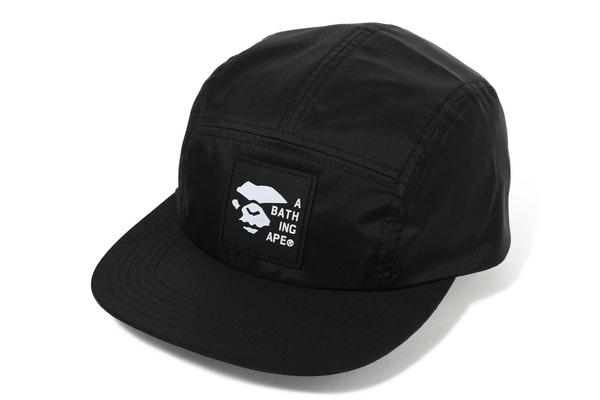Bape Mad Face Silicon Badge Jet Cap Black