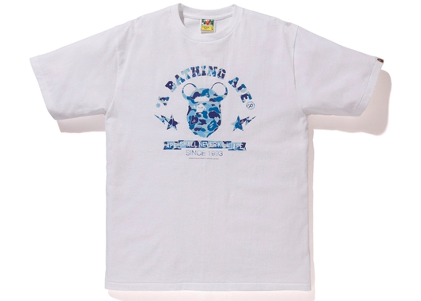 9b235969 BAPE Medicom Toy Ape Head Bear Tee White/Blue -