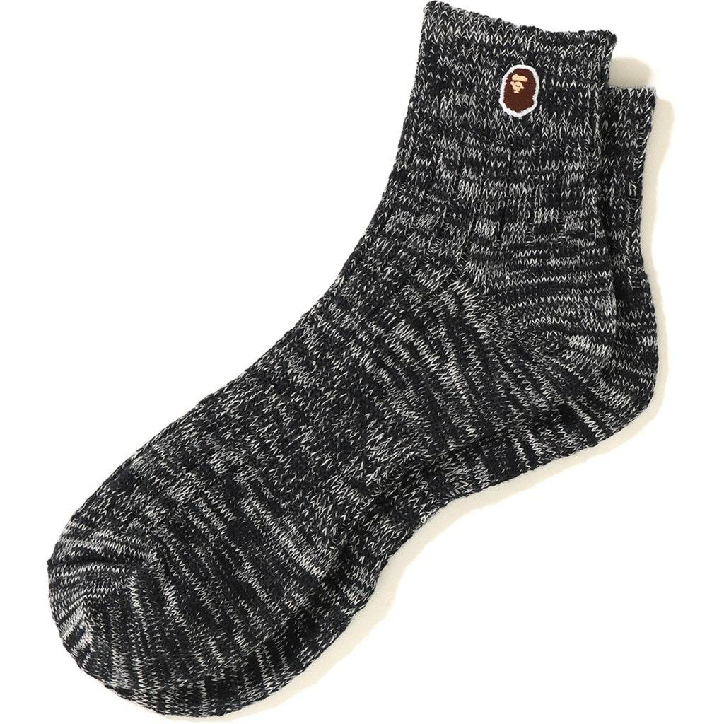 BAPE Melange Ankle Socks Black