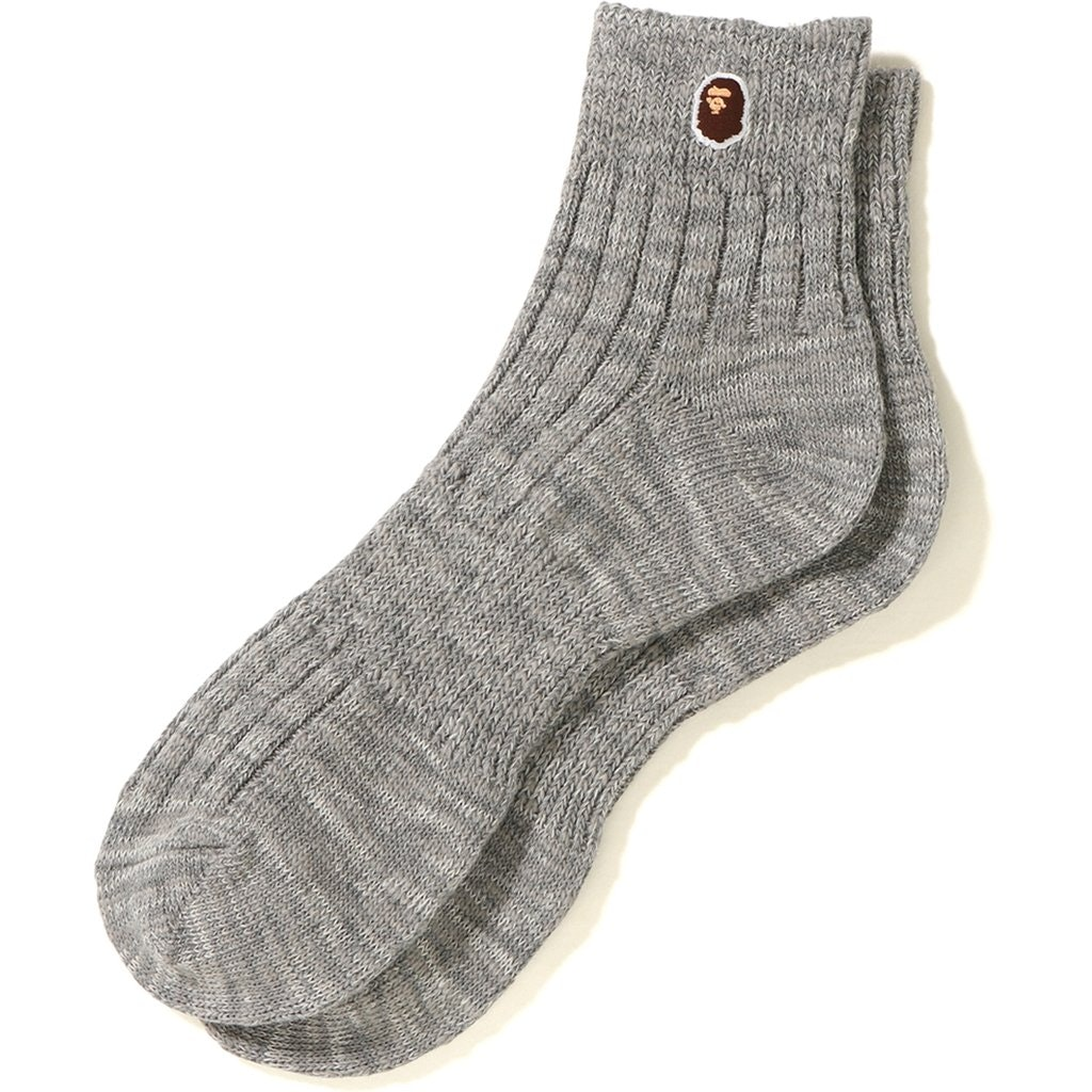 Bape Melange Ankle Socks Grey
