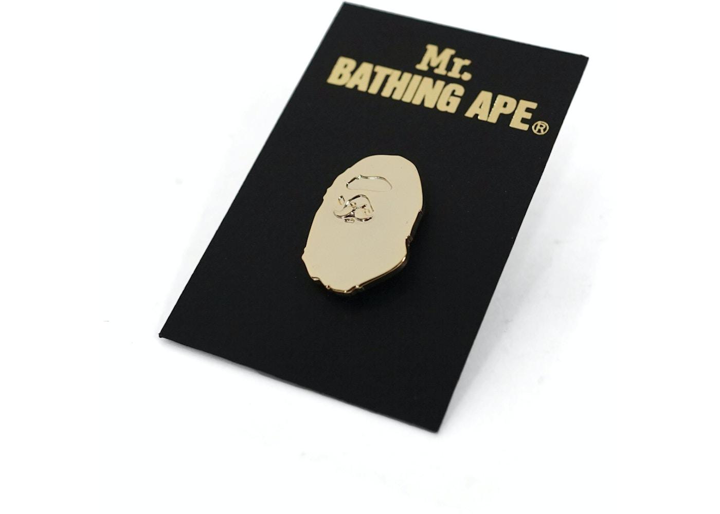 1e0b686e BAPE Mr. Bathing Ape Apehead Pin Gold. Mr. Bathing Ape Apehead