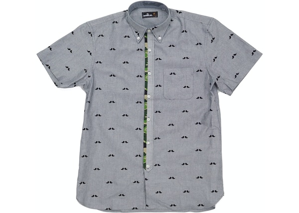 a7e8cd7c BAPE Mr. Bathing Ape Short Sleeve Button-Up Grey