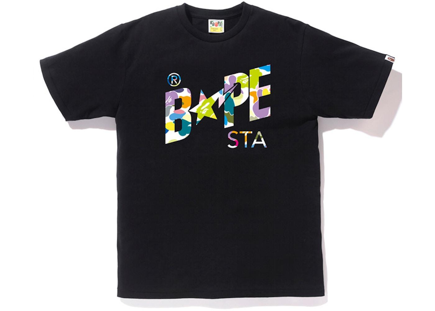 586afc2b Sell. or Ask. Size: XXL. View All Bids. BAPE Multi Camo Bapesta Tee Black