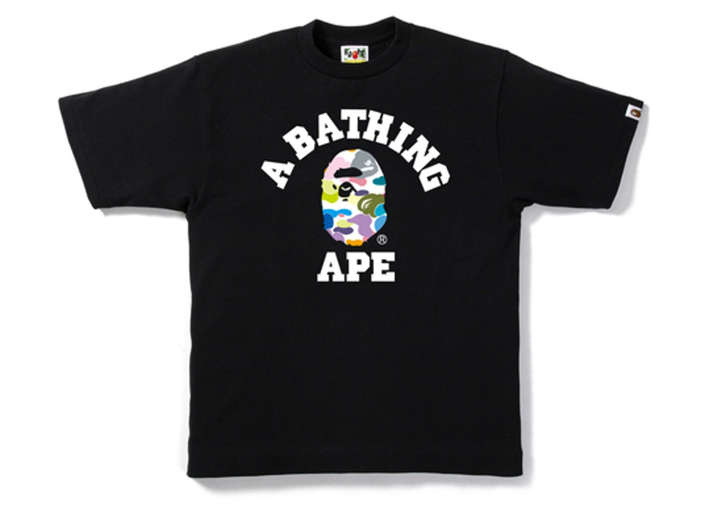 90b658e7 Sell. or Ask. Size: XXL. View All Bids. BAPE Multi Camo College Tee Black