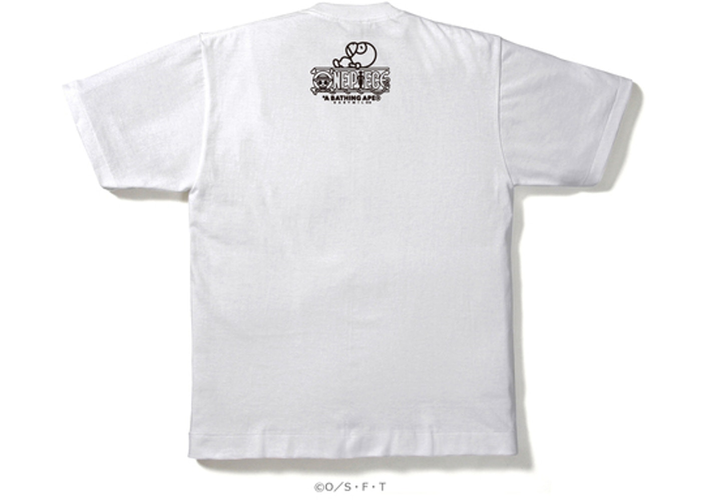 1c435527 BAPE One Piecefranky X Milo Tee White -