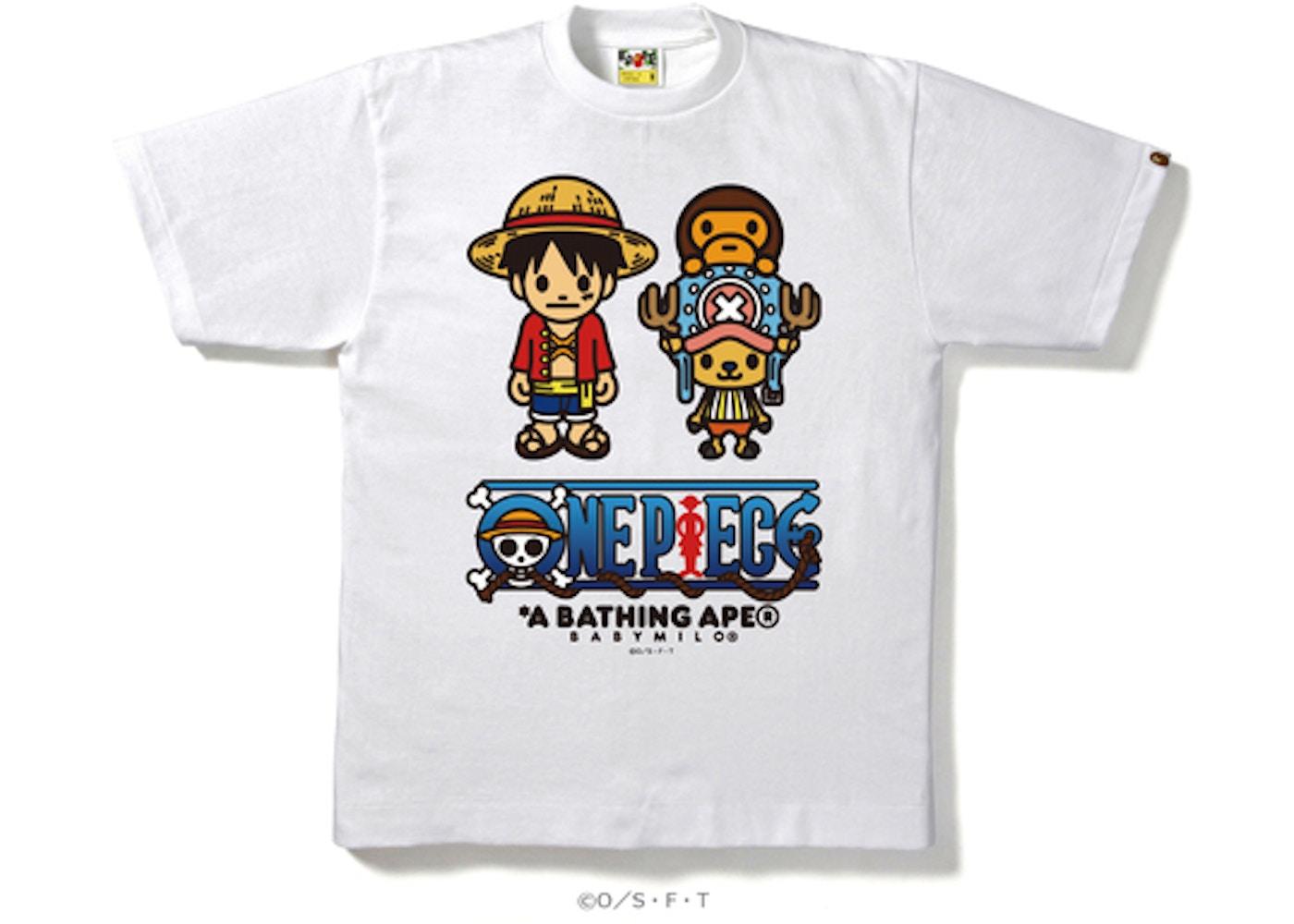 f0c2b157 BAPE One Piece Luffy & Chopper X Milo Tee White -